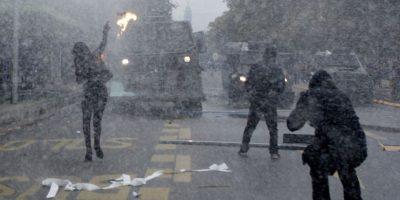 1 de mayo: 14 detenidos deja marcha paralela a la organizada por la CUT