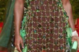 """Lupita Nyong'o y su tema """"la ecología"""" en representación de los niños de Tercero B. Foto:vía Getty Images. Imagen Por:"""