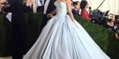 Claire Danes impactó con vestido luminoso en la #MetGala2016