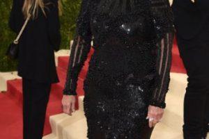 Por su vestido negro. Parecía Maléfica. Foto:vía Getty Images. Imagen Por: