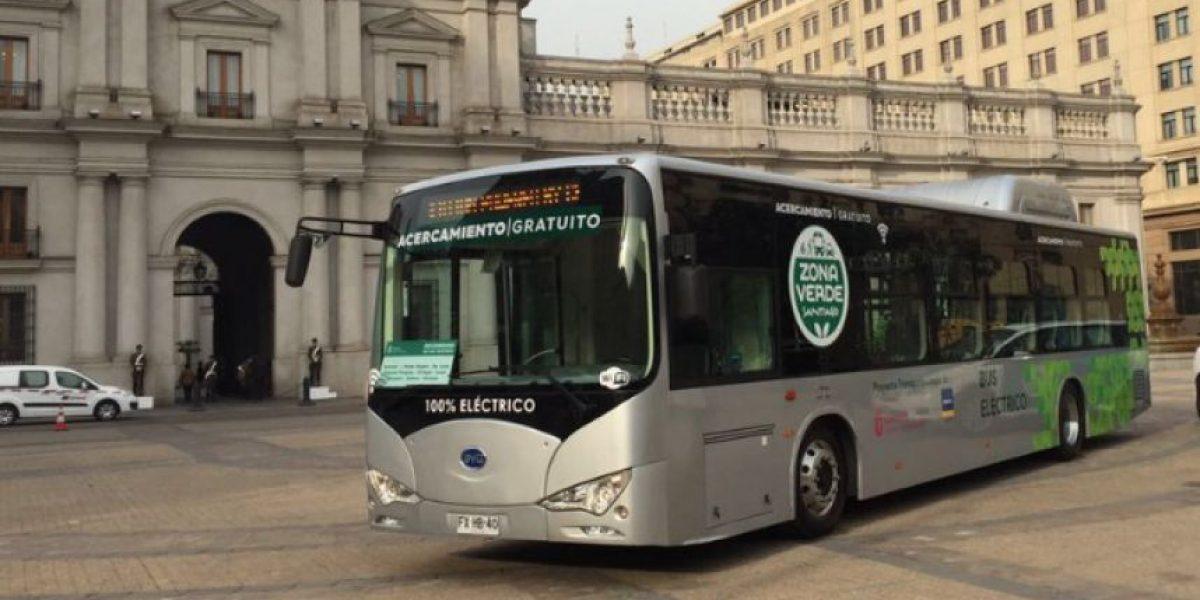 El recorrido del nuevo bus eléctrico gratuito que transitará el centro de Santiago
