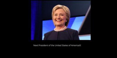 La página web no oficial de Ted Cruz que asegura que Hillary Clinton será la nueva presidenta de EEUU