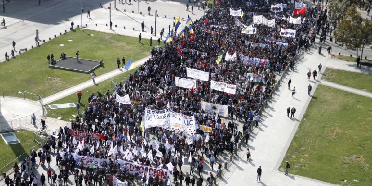 Marcha estudiantil por la Alameda: conoce los desvíos de tránsito