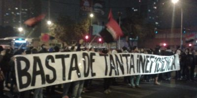 Estación Central: bloquean Alameda por protesta de pobladores