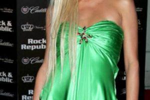 Vestido verde de satín. Foto:vía Getty Images. Imagen Por: