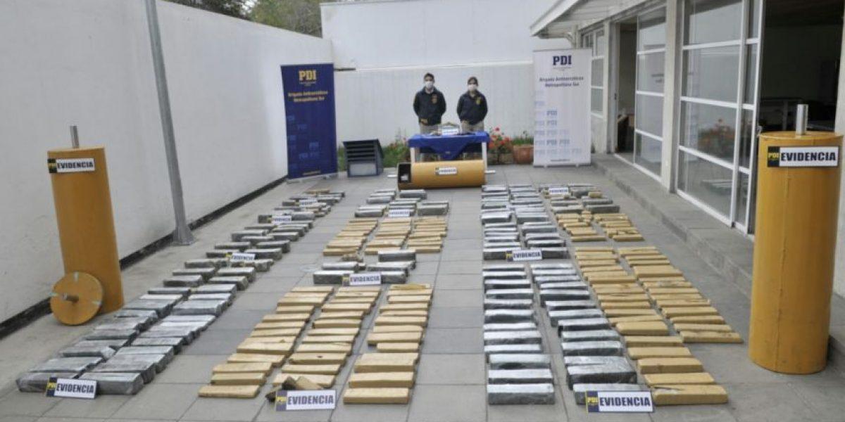 Más de 400 kilos de droga decomisó la PDI en allanamientos simultáneos