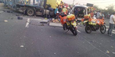 Un fallecido y seis lesionados en accidente múltiple en ruta 5 Sur