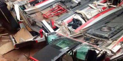 ¿Chile es yeta?: así reaccionan tuiteros tras accidente que aplastó nuevos trenes del Metro