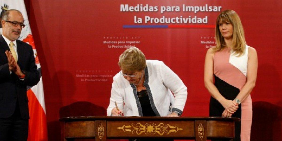 Presidenta Bachelet firmó proyecto de ley destinado a impulsar la productividad