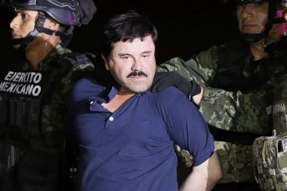 """""""El Chapo"""" Guzmán, recapturado el 8 de enero de este año. Foto:Efe. Imagen Por:"""