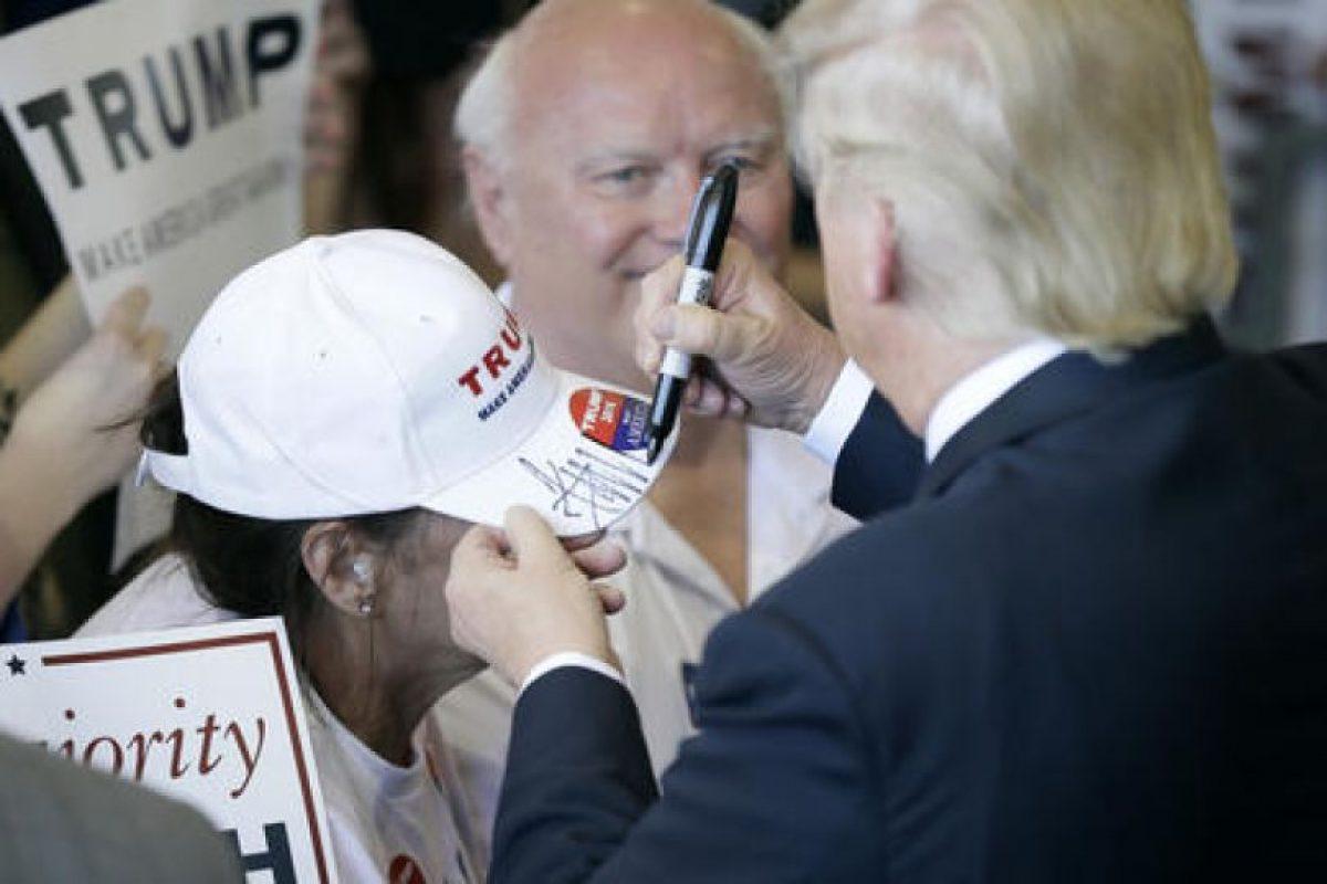 Trump es el unico candidato republicano en la carrera por la presidencia. Foto:AP. Imagen Por: