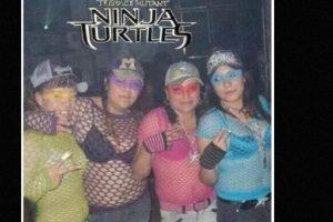 Las que se disfrazaron de las Tortugas Ninja. Foto:vía Tumblr. Imagen Por: