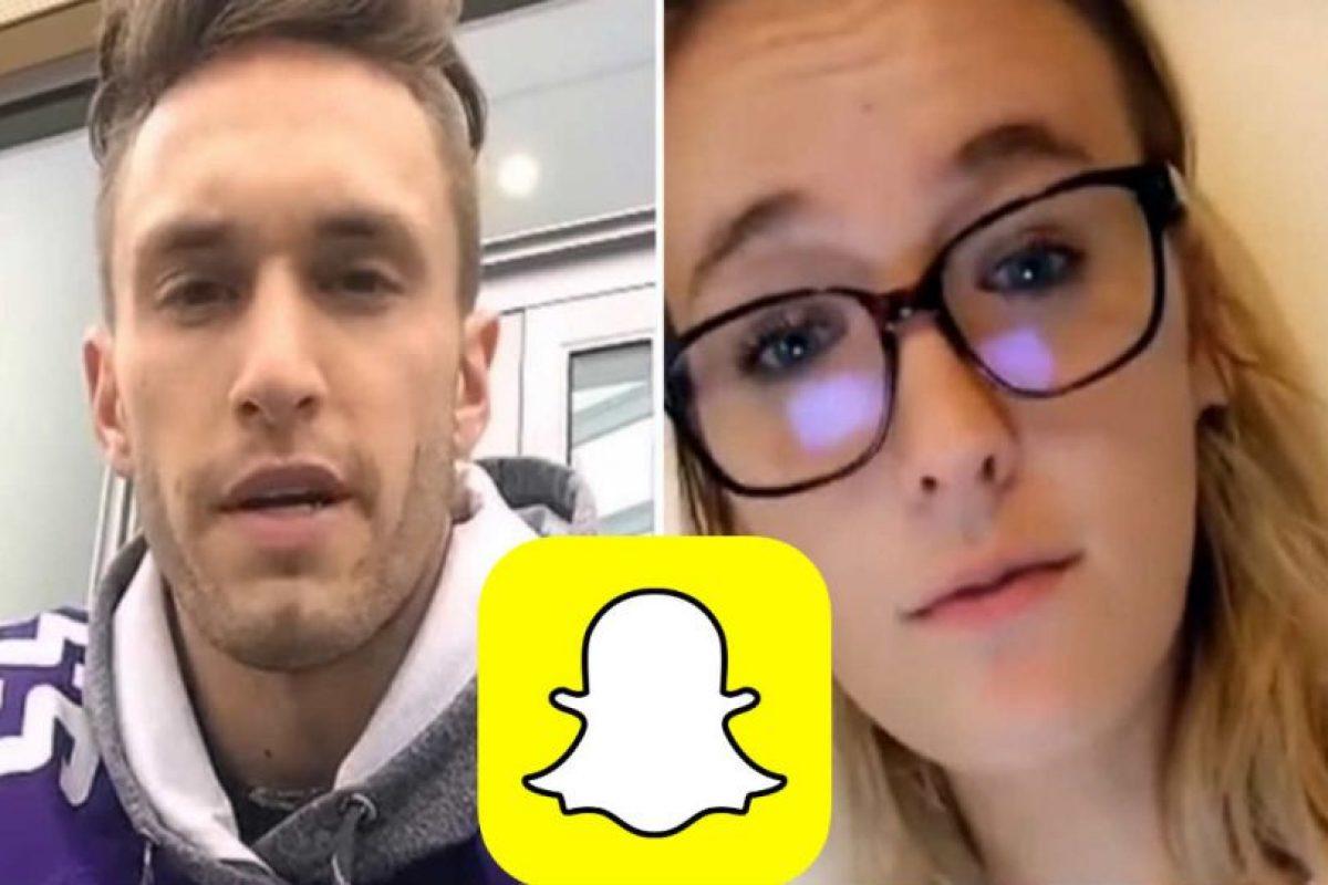 Estos son los protagonistas de la historia de amor. Foto:Snapchat. Imagen Por: