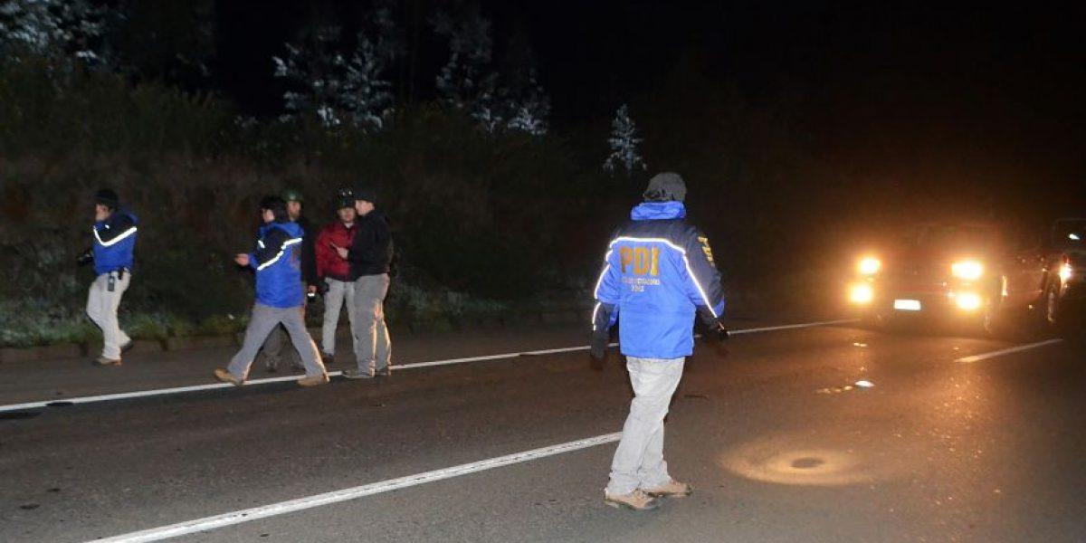 Vehículo de la PDI es atacado con disparos de escopeta en cercanías de Ercilla