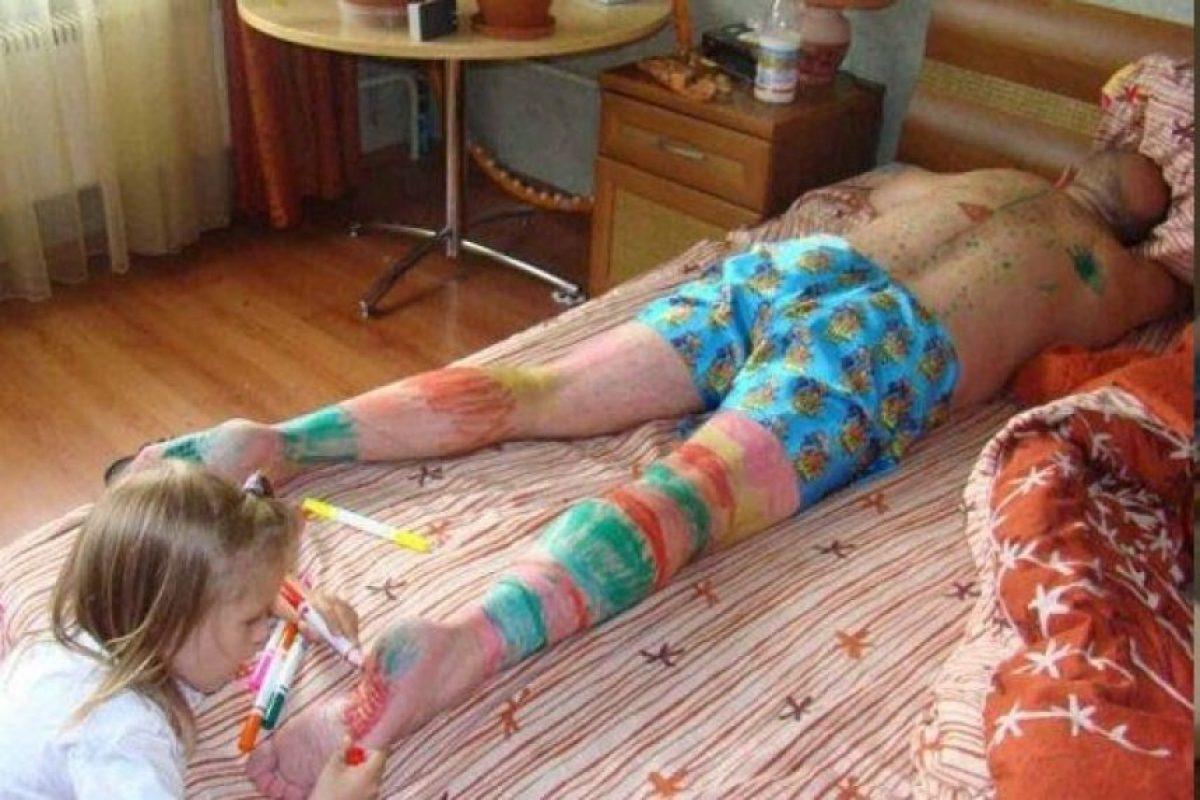 """Toda una """"artista"""". Foto:Vía Pinterest. Imagen Por:"""