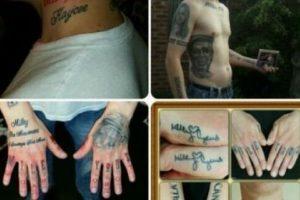 Extraños tatuajes inspirados en famosos Foto:vía twitter.com/MileyCyrusCarl. Imagen Por: