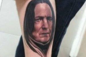 """""""Severus Snape"""" de """"Harry Potter"""" Foto:vía twitter.com/RavageTattoos. Imagen Por:"""