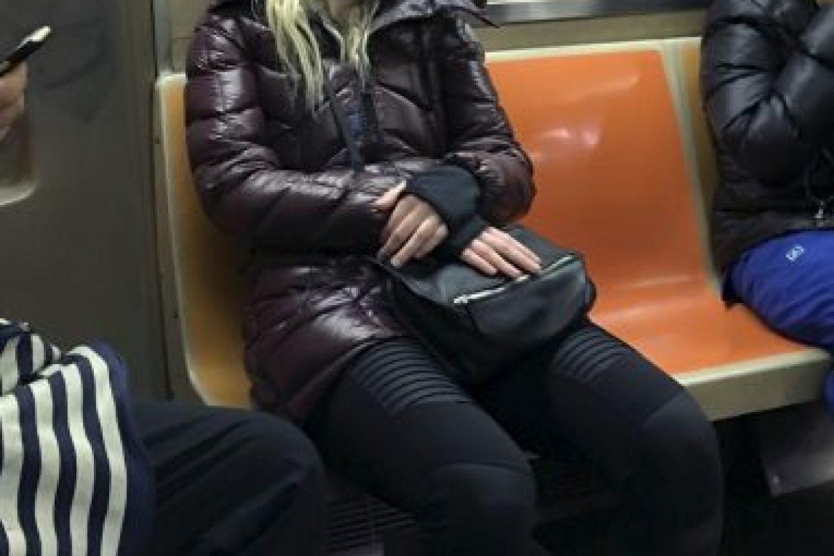Fue captada en el metro de Nueva York Foto:Grosby Grouo. Imagen Por:
