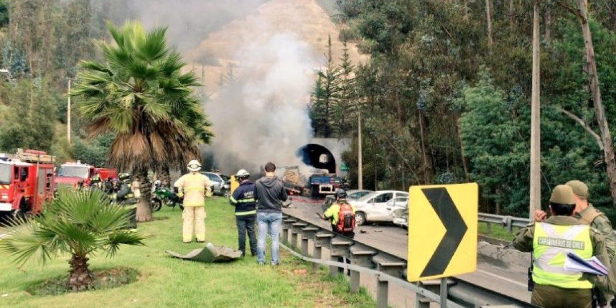 Testigo y accidente en Ruta Las Palmas: explosiones las causaron