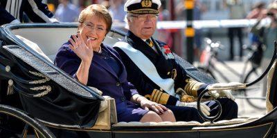 Estocolmo se engalanó para recibir a la Presidenta Michelle Bachelet
