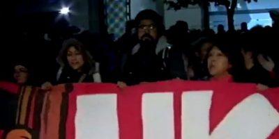 Manifestación por demandas habitacionales provocó congestión en la Alameda