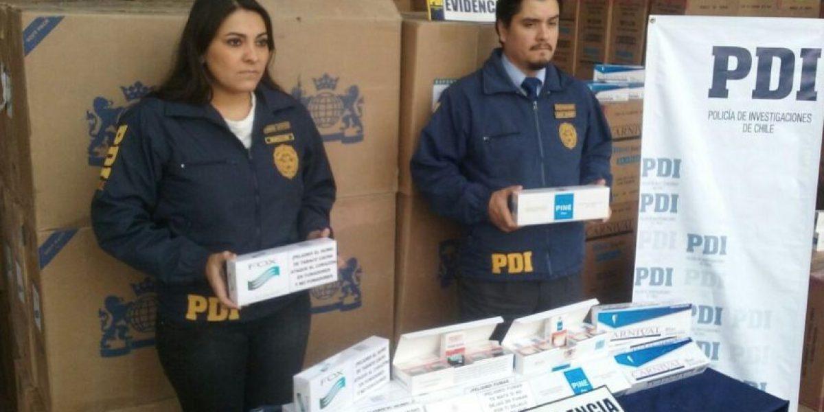 Los Andes: incautan más de $500 millones en cigarrillos de contrabando