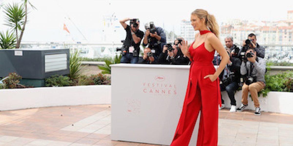 Fotos: Blake Lively muestra su pancita en el Festival de Cine de Cannes