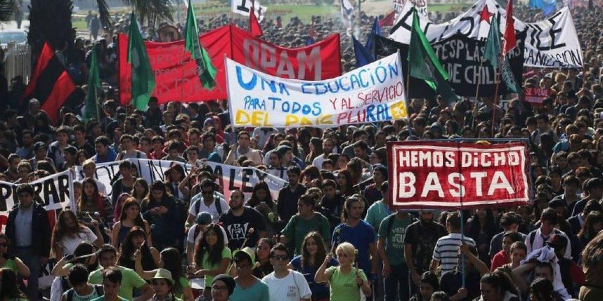Estos son los desvíos en el centro de Santiago por marcha de la Confech