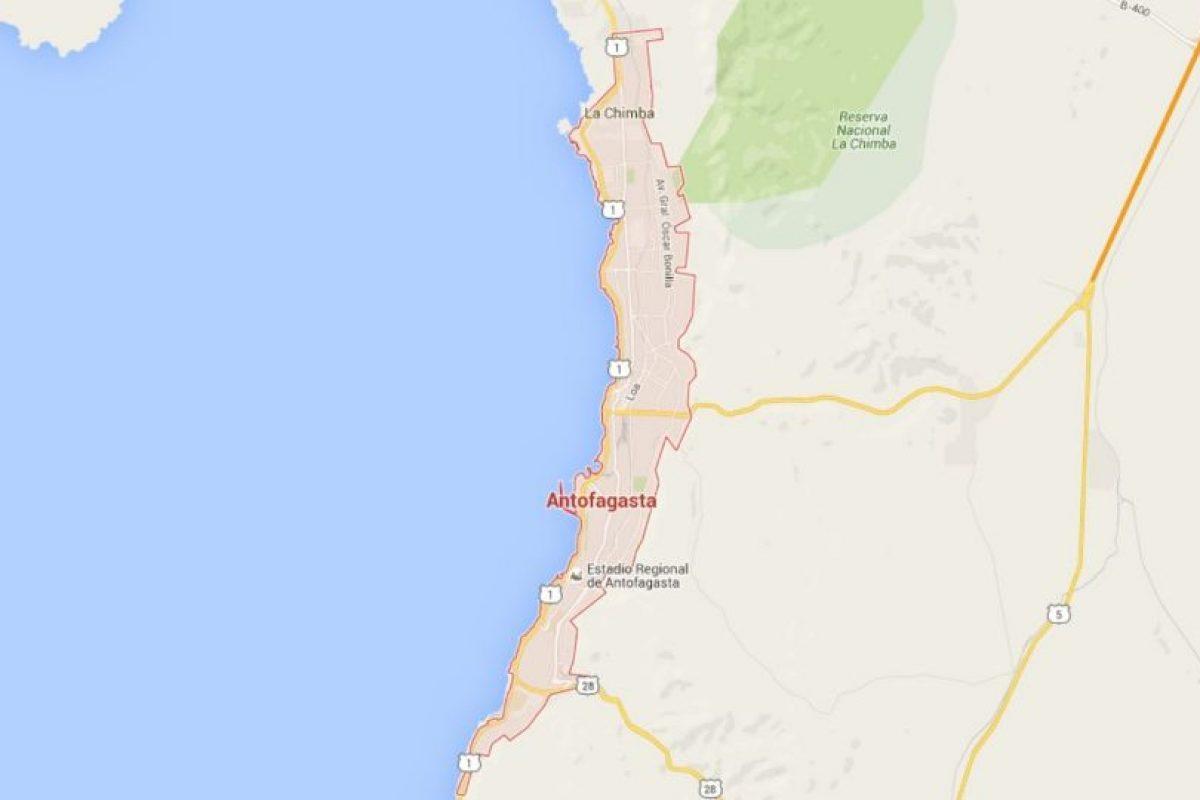 La cual está ubicada al norte de Chile y tienen una población a los 390 mil habitantes. Foto:Google Maps. Imagen Por: