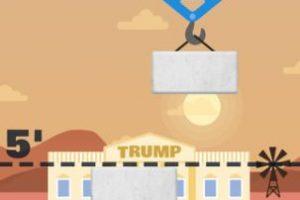 """Inicia con un edificio en el fondo que pareciera ser la Casa Blanca, pero en cuya fachada se lee """"Trump"""" Foto:The Blu Market. Imagen Por:"""
