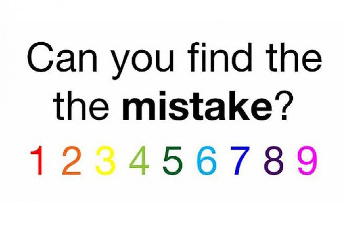 ¿Pueden encontrara el error? Foto:Playbuzz. Imagen Por: