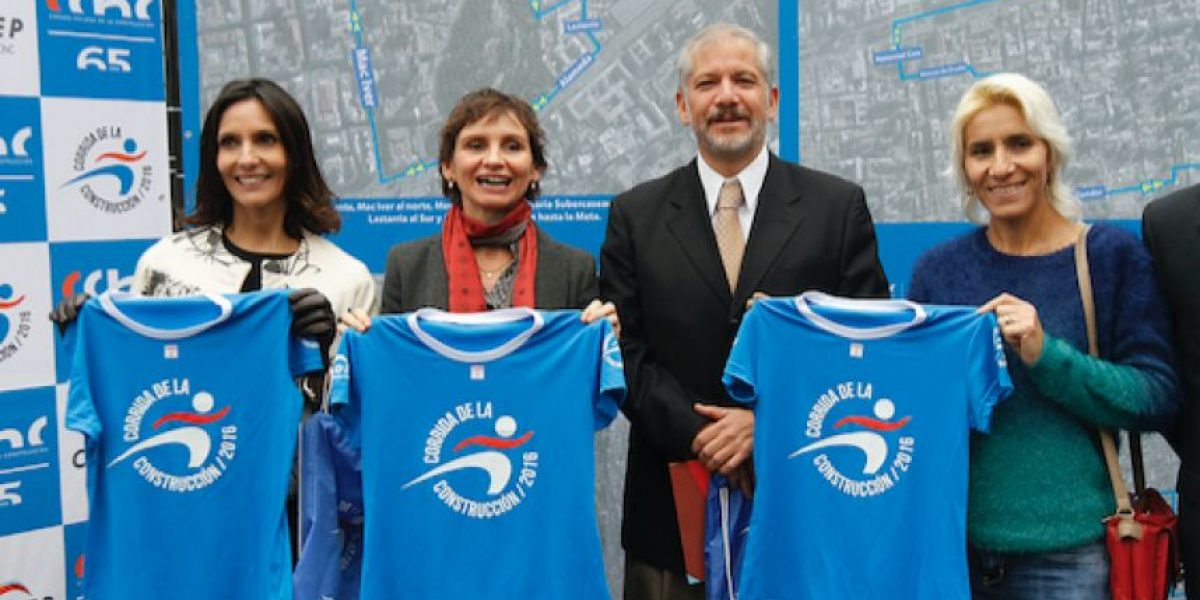 Cámara Chilena de la Construcción y Municipalidad de Santiago lanzan Corrida de la Construcción 2016
