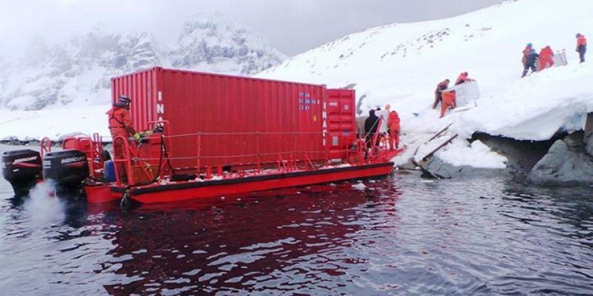 Personal de la Armada retiró 200 toneladas de basura desde la Antártica