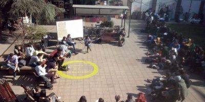 Estudiantes realizan jornada de paro reflexivo en torno a la reforma educacional