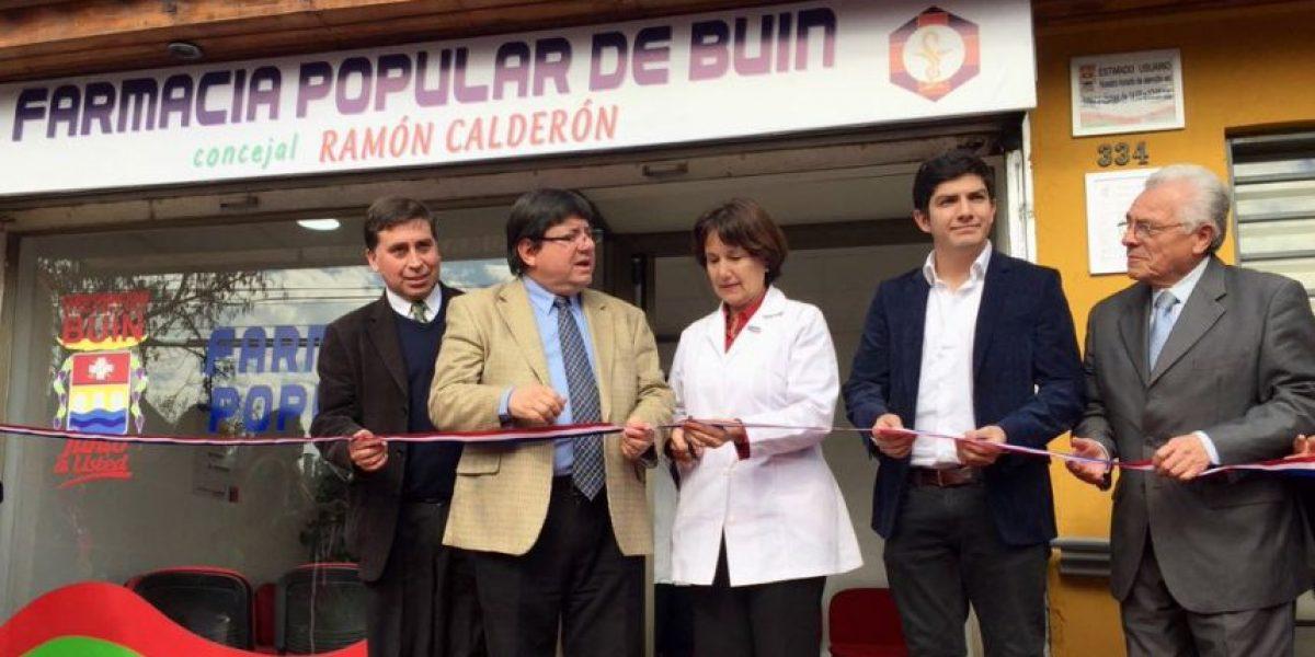 Inauguran farmacia popular de Buin: beneficiará a más de 75 mil habitantes