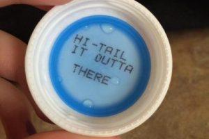 Los mensajes en botellas de SoBe Foto:Vía Twitter. Imagen Por: