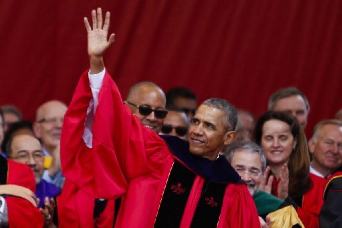 El presidente Barack Obama se presento a dar un discurso de clausura en la Universidad Rutger. Foto:AFP. Imagen Por: