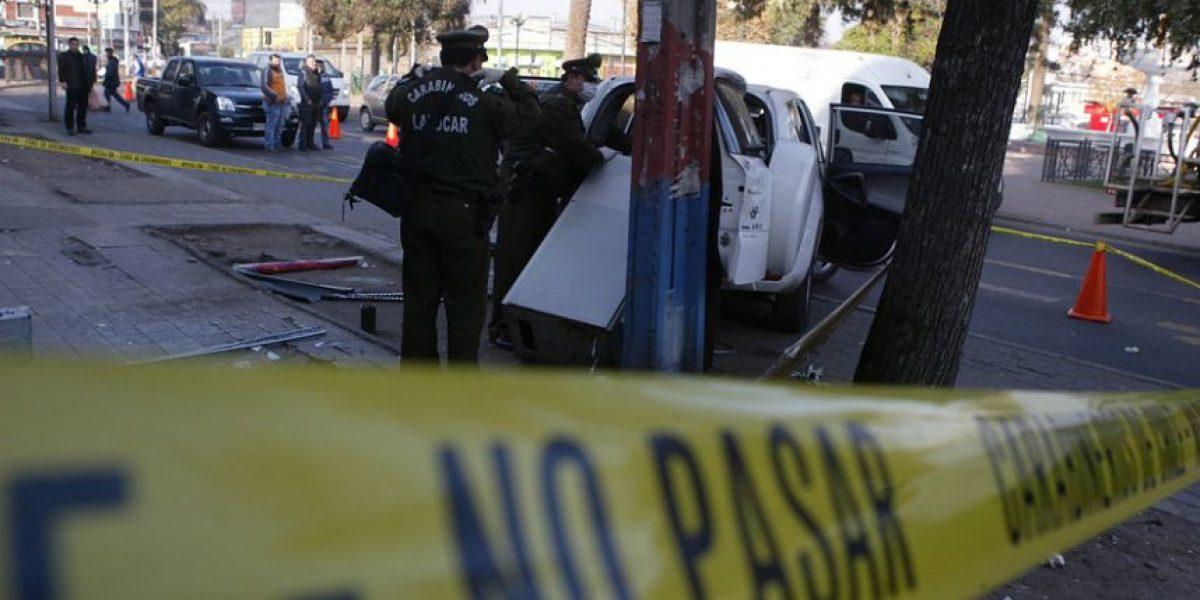 Robo frustrado a cajero automático en Renca dejó cuantiosos daños en supermercado