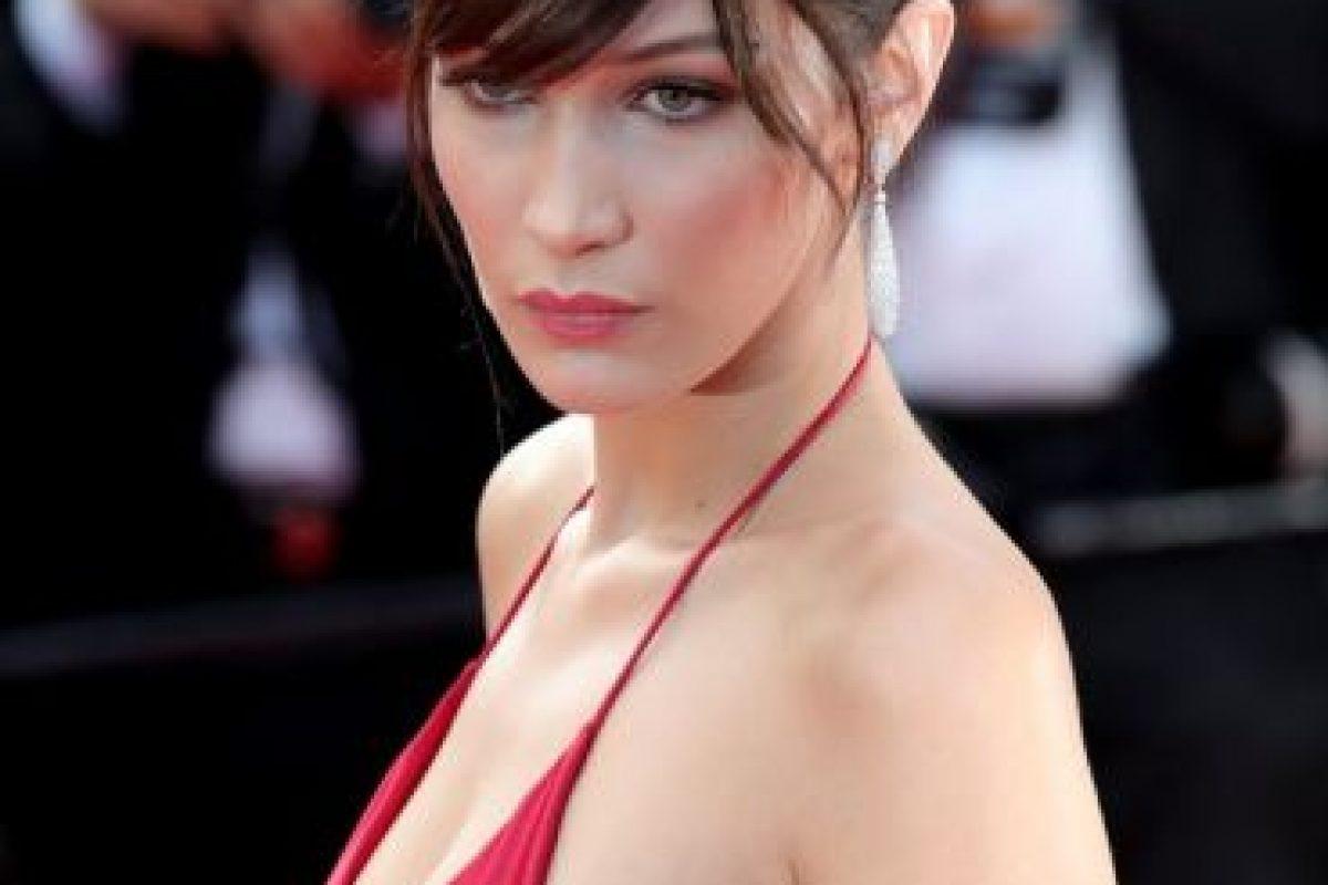 Así llegó la modelo a la alfombra roja del festival Foto:Getty Images. Imagen Por: