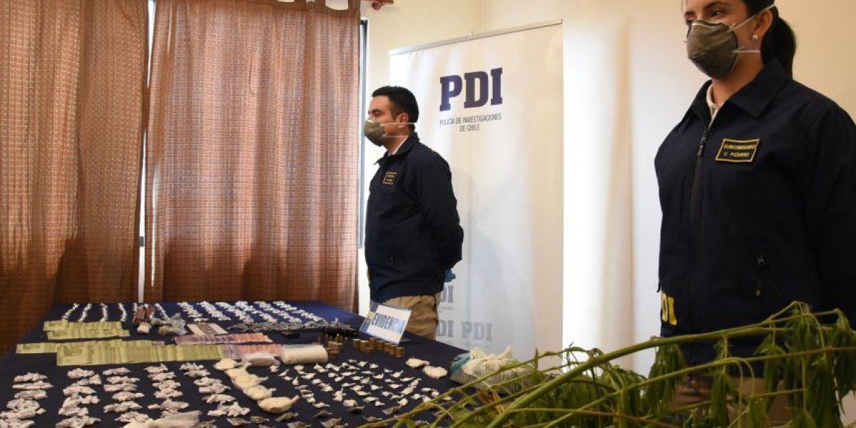 PDI desbarata red familiar que comercializaba droga en Población La Legua