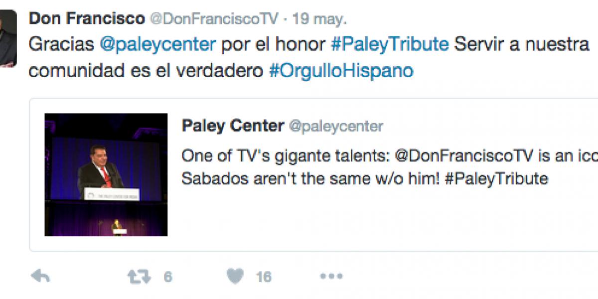 Reconocen a Don Francisco por su aporte a la televisión hispana
