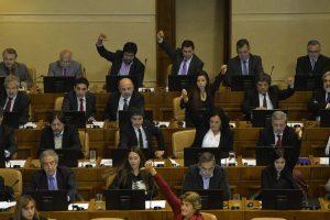 Parlamento aprobó la agenda corta antidelincuencia, que incorpora en sus puntos más polémicos el control de identidad. Foto:PABLO OVALLEISASMENDI/ AGENCIAUNO. Imagen Por: