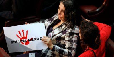 La eufórica reacción de la diputada Karla Rubilar por anuncio de Bachelet