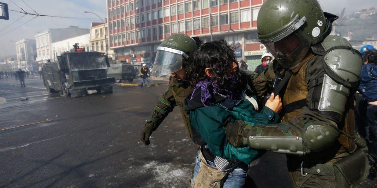 37 detenidos tras incidentes en Valparaíso luego de Cuenta Pública