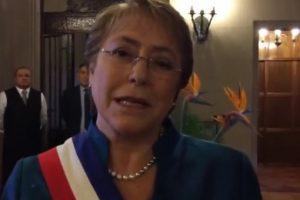 Foto:Reproducción / Facebook MichelleBacheletPresidenta. Imagen Por: