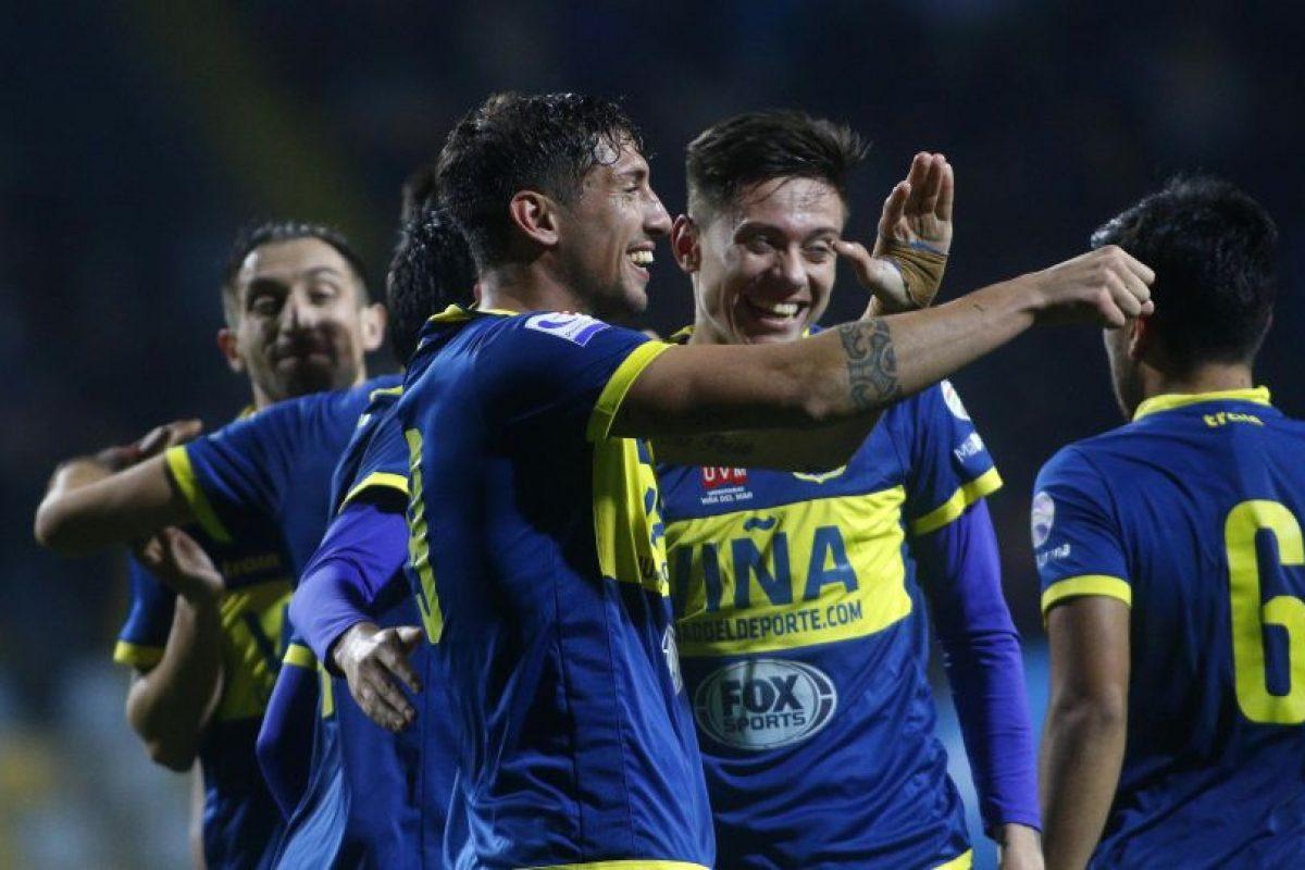 Everton venció a Puerto Montt en la primera final del Campeonato de Primera B 2015-2016, jugado en el Estadio Sausalito. Foto:RAUL ZAMORA/AGENCIA UNO. Imagen Por: