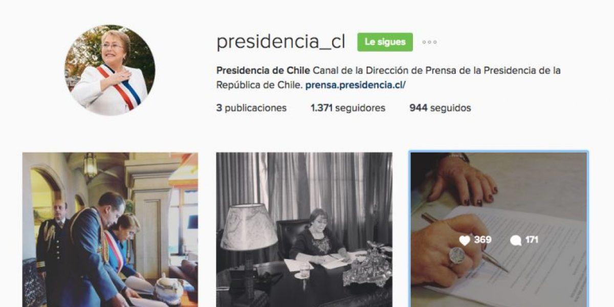 Presidenta Bachelet crea cuenta en Instagram