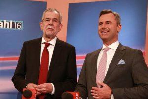 A la izquierda Alexander Van der Bellen, candidato ecologista, a la derecha, Nobert Hofer, el supuesto favorito del partido ultraderechista Foto:Reproducción. Imagen Por: