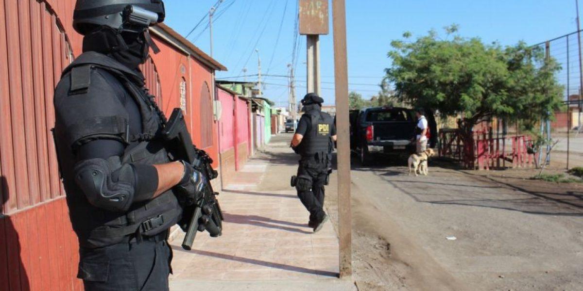 Arica: operativo de la PDI desbarató cinco enclaves de tráfico de drogas