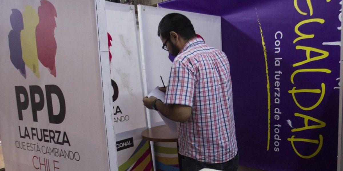 Con una baja cercana al 25% de votantes el PPD realizó sus elecciones internas